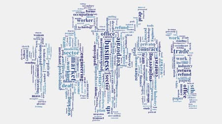 corporate : Corporate business enterprise word cloud typography animation