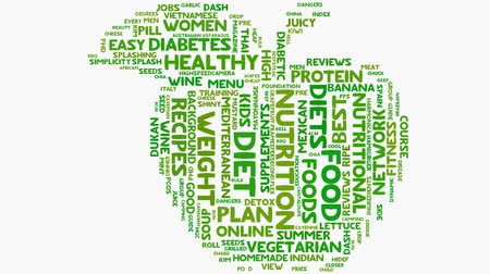 nutrição : Health food nutrition words on white, healthy eating wordcloud typography