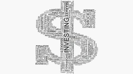 noktalama : Growth dollar sign Online shopping marketing concept word cloud text typography Stok Video