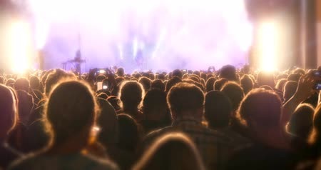 rock music : Concert crowd at live music stage event