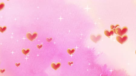 klenot : Pink cute heart fly illustration