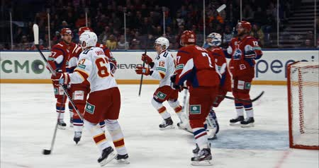 хоккей : hockey game, OCTOBER 29: Lokomotiv - Jokerit