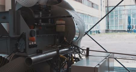 aeroespaço : Test of the aero engine on aircraft factory