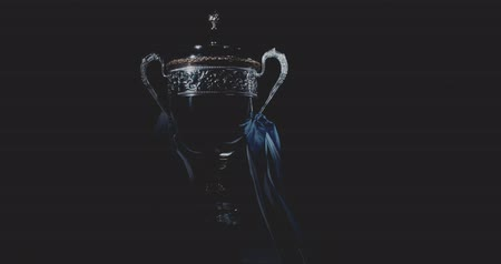 trofej : a silver trophy cup isolated