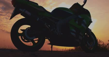 motocykl : Motorcycle Photo Motorcycle at sunset on a sand