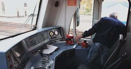 train workers : Train Conductor russian railway company