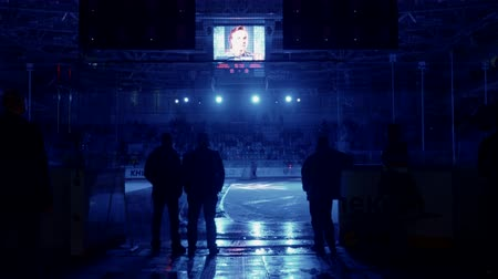 playoff : Novgorod, Russia, February 27 2016: KHL Playoff Torpedo - Jokerit entry of an ice-hockey team Stock Footage