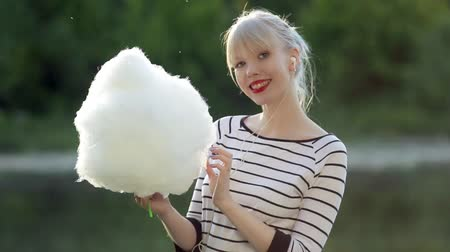 colorful candy : Girl with cotton candy