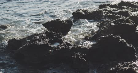 massachusetts : sea and rocks. Nature conceprt, filmed on cinematic camera, 12 bit color