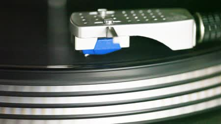 rock album : turntable with album on the platter