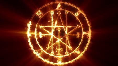 szatan : Astaroth Occult Symbol Loop - is a cool scary animation of energy flow and shines, which outline demonic symbol. Spooky stuff, perfect to use on VJ thematic sets, metal and gothic festivals, halloween parties or movie trailers. Wideo