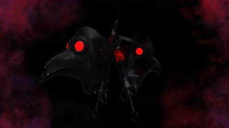 demons : Plague Doctor Mask VJ Loop This is a clip art of the plague. This VJ Loop can be used for events display screens, vlogs, motion graphics projects, and other projects with creepy themes. This motion graphics is perfect for use in your next Halloween and Go