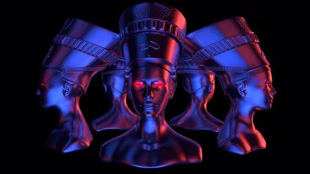 Nefertiti Heads VJ Loop - is a stunning ancient motion graphic illustration featuring a close-up view of Egypt. Perfect to use in the ancient videos, Egypt graphics, thematic VJ sets, futuristic sceneries, movie trailers and much more!