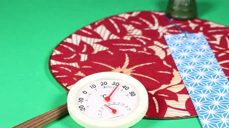 termometr : Japanese fan and thermometer