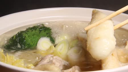 rice cake : Japanese hot pot, Akita prefecture food Kiritanpo Nabe
