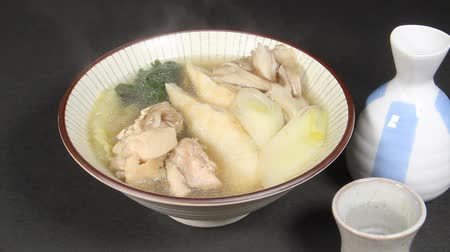 rice cake : Japanese winter food, Kiritanpo and sake