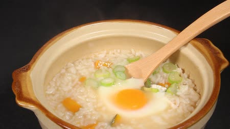 congee : Japanese food, Zosui (soup and rice) with egg and green onion