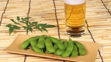 bamboo curtain : Edamame and beer