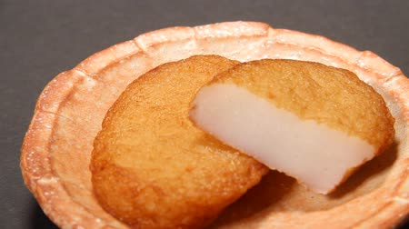 oden : Fried fish cake Stock Footage
