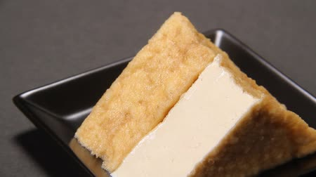 tofu : japanese food Deep fried tofu Stock Footage