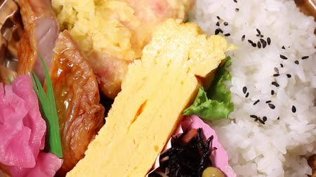 pickled : Bento (lunch box) close up Stock Footage