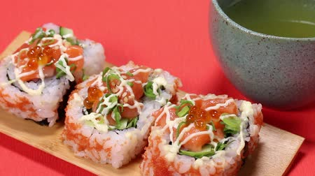 mayonaise : Japanese  Seafood rolls and Tea