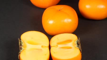 persimmons : Shonai Persimmon which is autumn fruit of Japan
