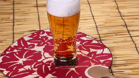 pivovar : Japanese Fan and glass of Beer