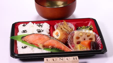 塩漬けの : Japanese food, Bento Box of grilled salmon