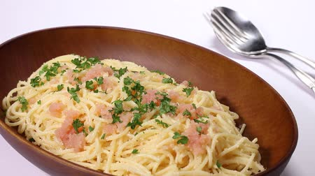 morina : Pasta with Spicy Cod Roe