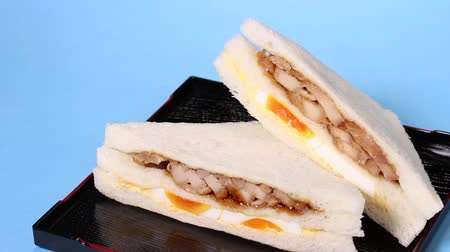 hard boiled : Chicken Egg Sandwich on tray