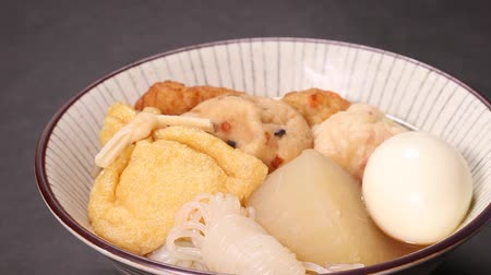 rice cake : Oden (Japan cuisine) Close up