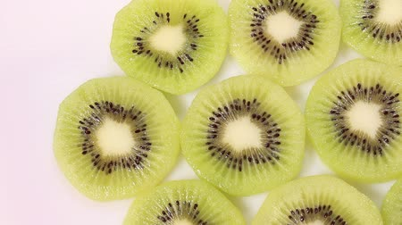 amarelado : cross section of Kiwi fruit