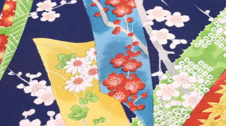 chryzantema : Kimono fabric Japanese pattern rotating