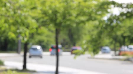 Blurred image of a driveway Stock Footage