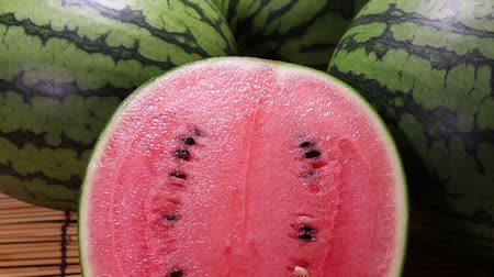 Small Watermelon close up rotating