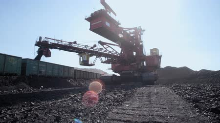 bagger : Giant bucket wheel excavator for open pit coal mine - lignite
