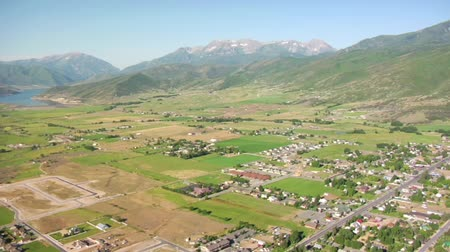 untamed : aerial shot of mountain farming community