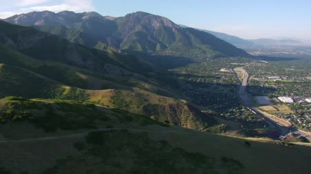 untamed : aerial shot of Salt Lake City and mountains