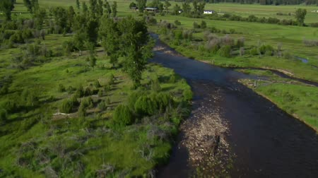 плодородный : aerial shot of Green Valley, River, and ranch