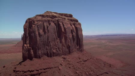 mittens : aerial shot of Monument Valley mittens Stock Footage