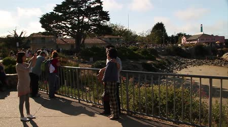 fotky : tourists take photos in Monterey California