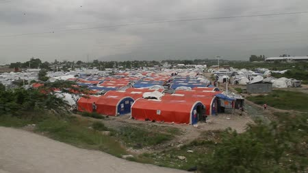 homeless : refugee camp tents in Port-au-Prince Haiti