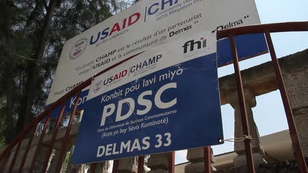 imha : USAID sign at patient clinic