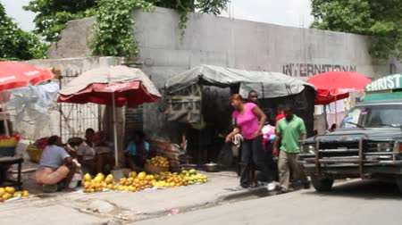 homeless : market vendors on Street Port-au-Prince Haiti
