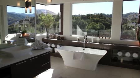 banyo : luxurious modern bathroom