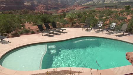 homes :  beautiful pool with Redrock desert in distance