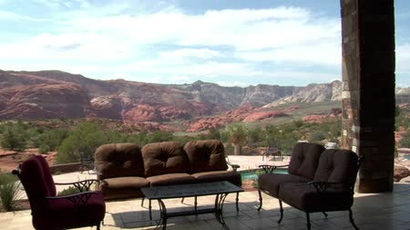 homes : steadicam through large desert home with incredible view
