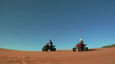 high shutter speed ATV riders on standards Wideo