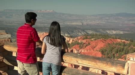 couple at rim Overlook Bryce Canyon national Park